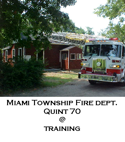 Miami Township Fire Department Quint 70 Training
