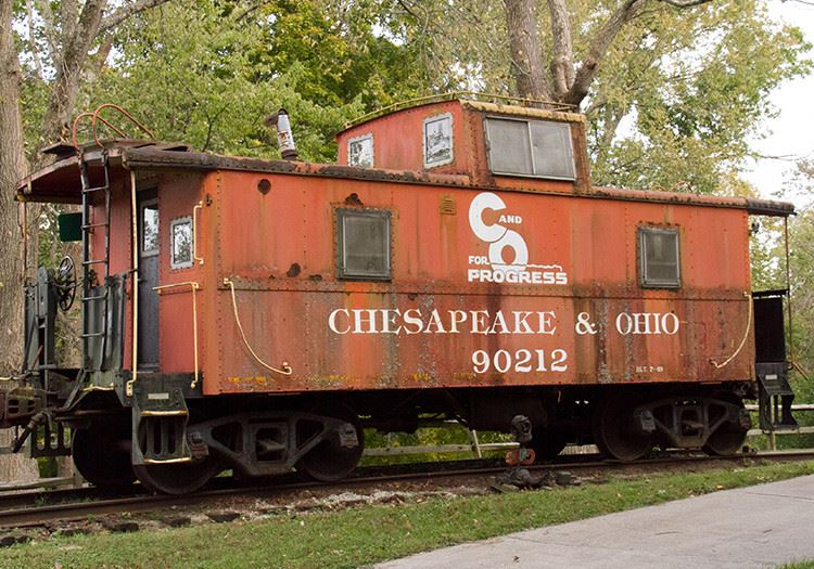 a Chesapeake and Ohio rail car